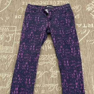 LEVI'S Mid Rise Skinny Purple & Black Jeans